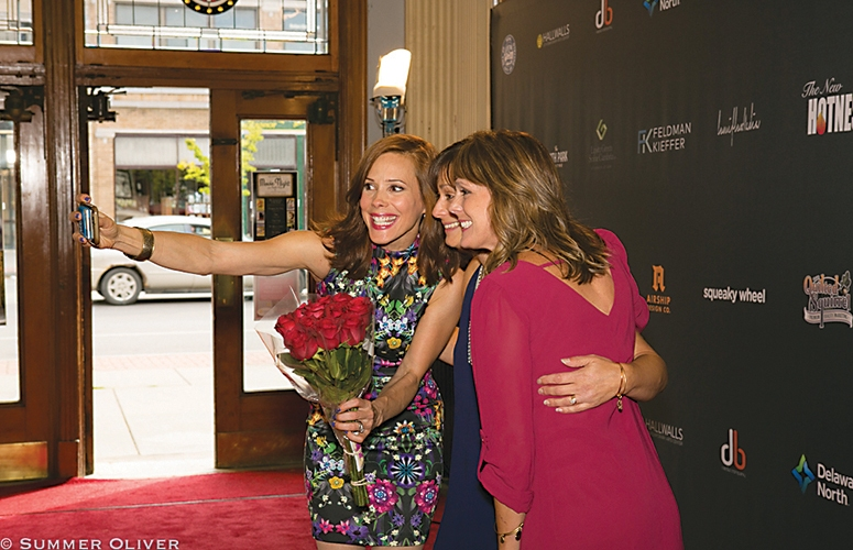Tracey B. Wilson, star of Trew Calling, takes a selfie with friends on the BIFF red carpet. PHOTOS BY SUMMER OLIVER
